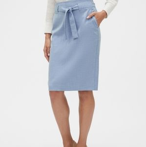 Banana Republic chambray fitted pencil skirt
